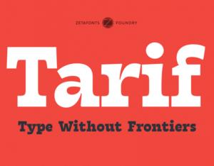 طريف – خط متعدد النصوص يحتوي على 7 أوزان عربية مجانية