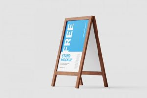free-wooden-stand-mockup