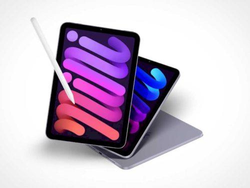 ipad-mini-مجاني-&-amp؛-stylus-psd-mockups