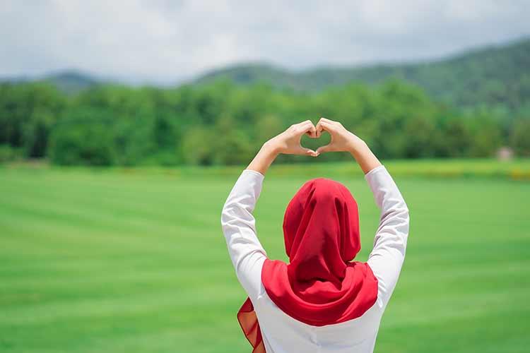 خلفية مسلمة بالحجاب