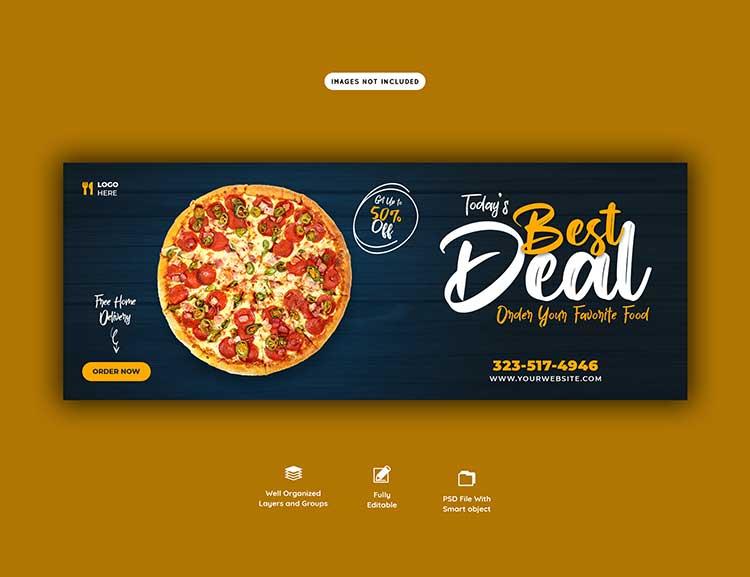 تحميل تصميم غلاف بيتزا psd مجانا