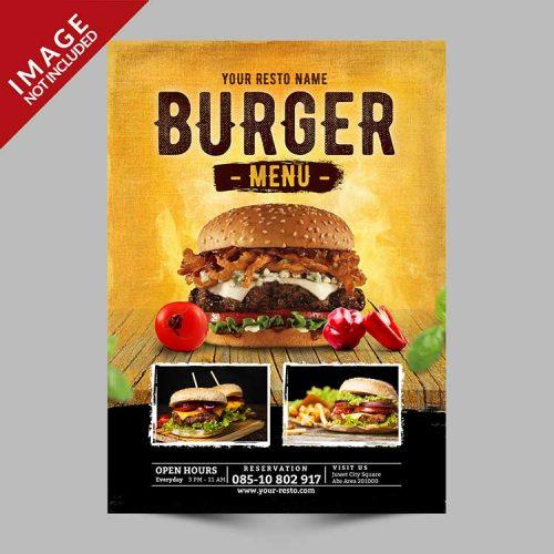 menu psd cover