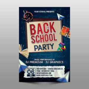 back to school flyer psd