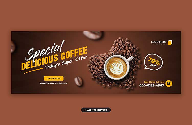 تحميل غلاف قهوة psd مجانا