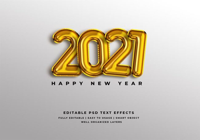 new year 2021 psd