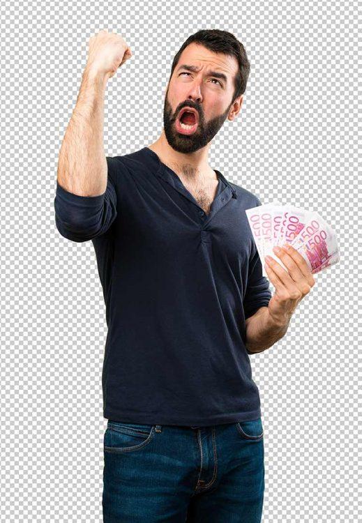 صورة رجل متحمس