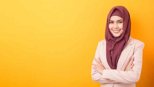 صورة مسلمة ترتدي حجاب