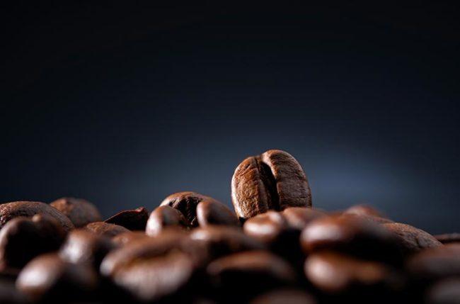 خلفية حبات قهوة