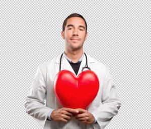 طبيب يحمل قلب png
