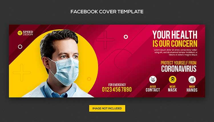 غلاف طبي فيسبوك Medical PSD Cover