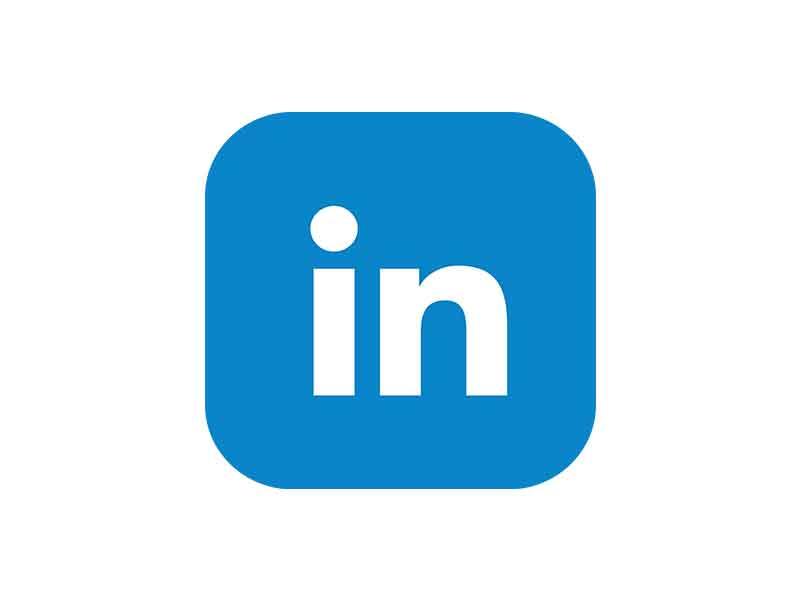 شعار موقع لينكد ان مفرغ بمقاسات متعدده Linkedin PNG Icon