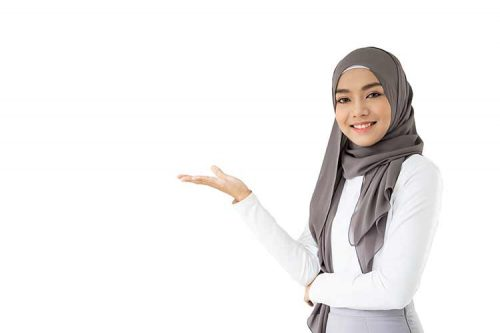 صورة مسلمة أسيوية