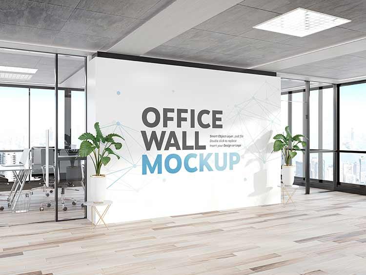 تحميل موك اب حائط مكتب psd مجانا