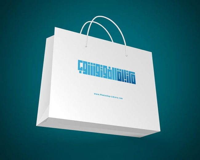 موك اب شنطة تسوق ورقية Paper Shopping Bag PSD Mockup