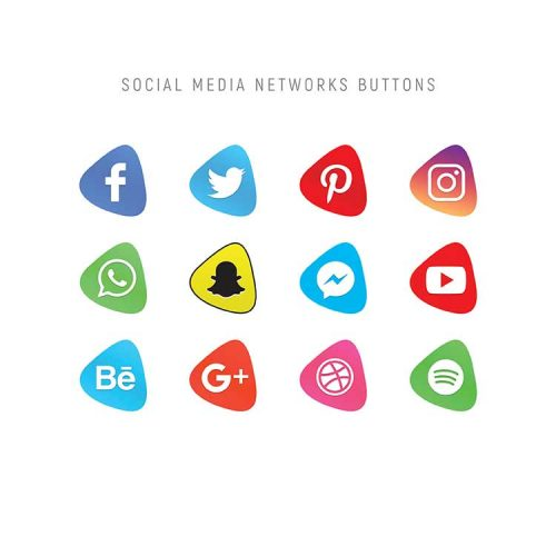 psd social icons
