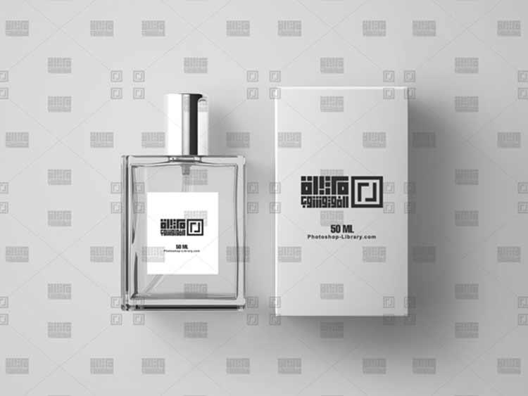 موك اب شعار عطر عطور Perfume Logo Mockup