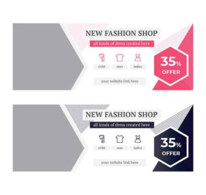 fashion psd banner
