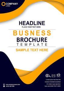 clean brochure psd design