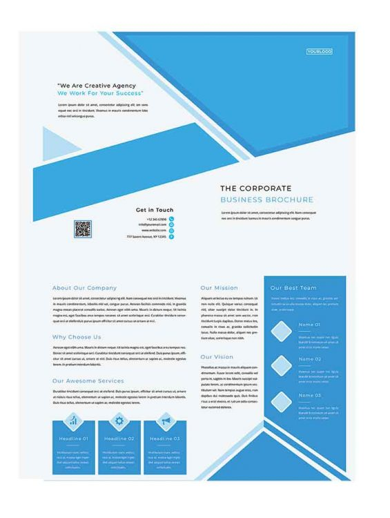 medical psd brochure