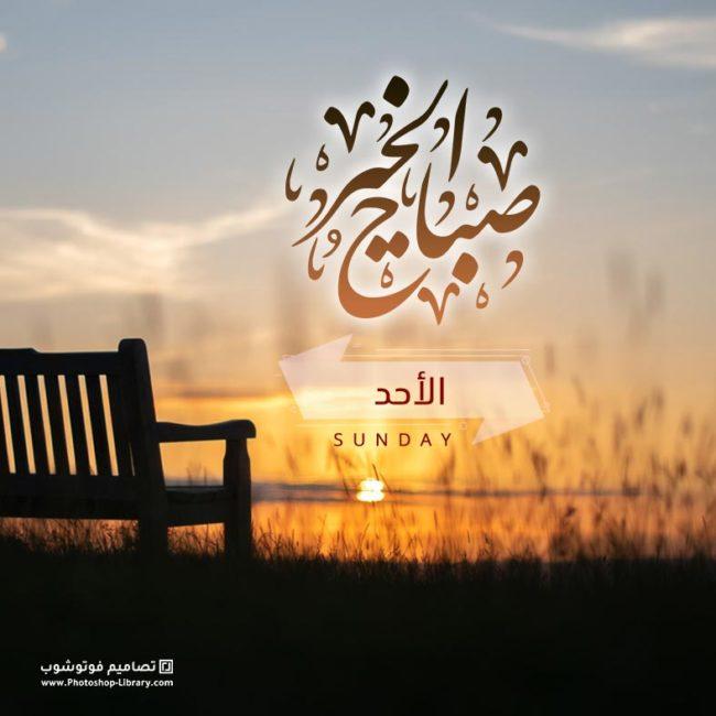 بطاقة صباح الخير ، يوم الاحد ، شروق شمس، تصاميم صور صباحيه 2021