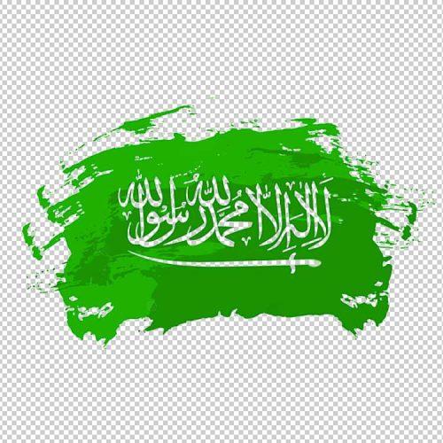 علم السعودية PNG العلم السعودي مفرغ بخلفية شفافة جودة عالية مجانا