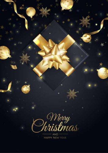 2021 Merry Christmas Greeting Card Luxurious box with Christmas shapes