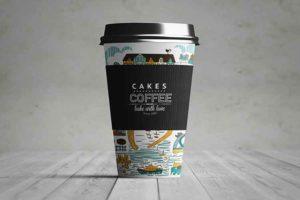 موك اب فنجان قهوة ورقي