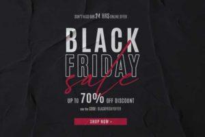 قالب بنر الجمعة السوداء Black Friday Sale Psd
