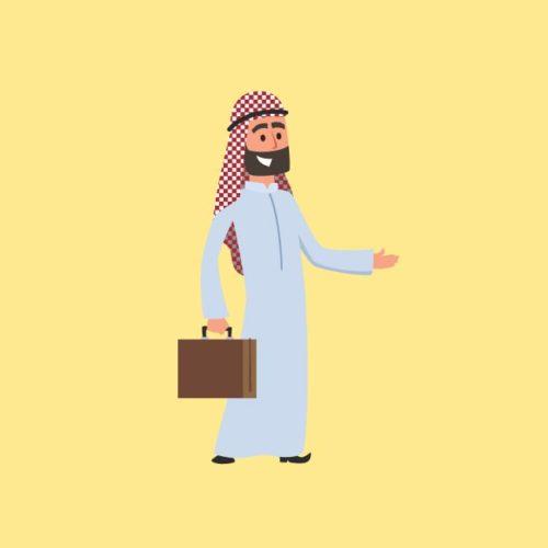 تحميل فكتور رجل أعمال خليجي Gulf businessman eps, ai vector, design, file للتصميم مفتوح قابل للتعديل على اليستريتور مجانا .