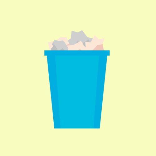 فيكتور سلة مهملات قمامة اوراق wastebasket eps, ai vector, design, file للتصميم مفتوح قابل للتعديل على اليستريتور مجانا .