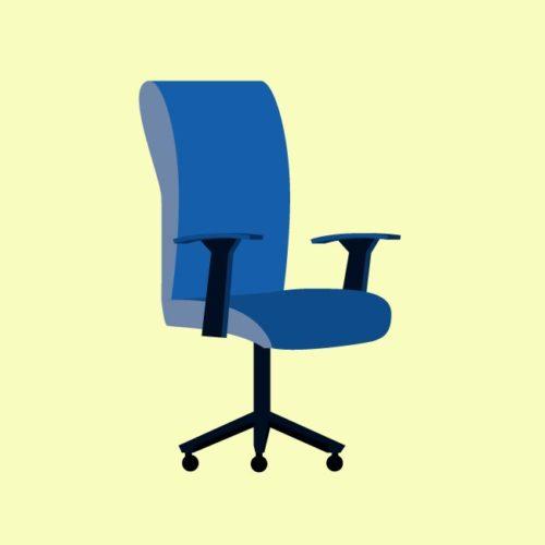 فيكتور كرسي مكتب Desk chair office eps, ai vector, design, file للتصميم مفتوح قابل للتعديل على اليستريتور مجانا .